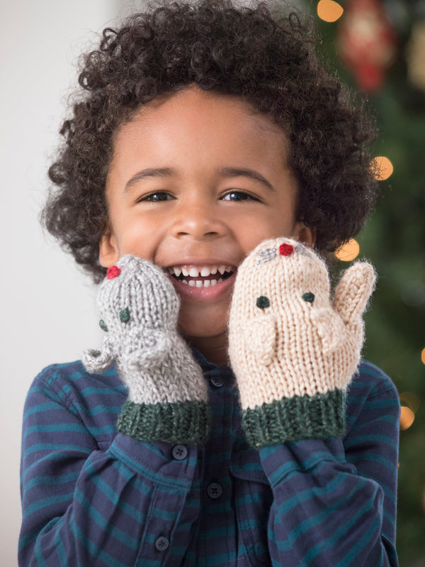 Cat And Mouse Mittens (Knit)