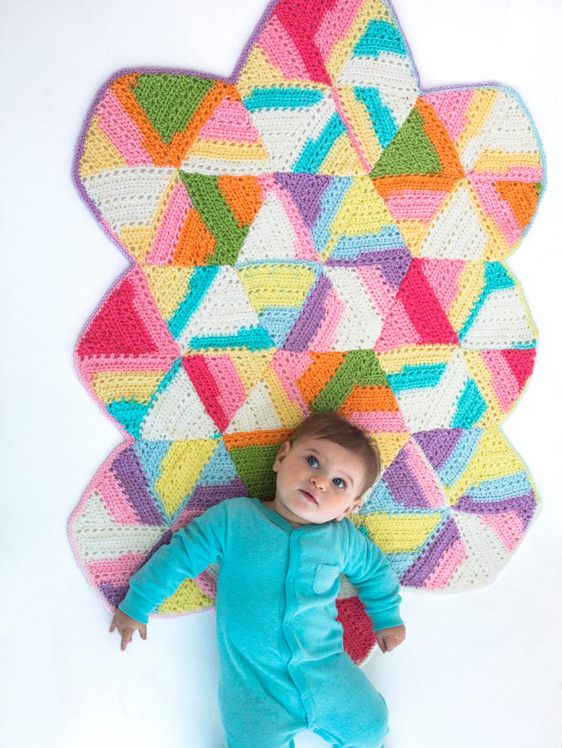Bright Hexagon Blanket (Crochet)