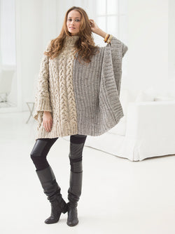 Chatsworth Cable Poncho (Knit)