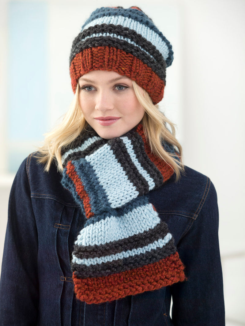 Campus Stroll Hat And Scarf (Knit)