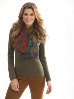 Neck's Best Thing Color Blocks Scarf (Crochet)