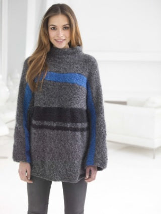 Boxy Striped Pullover (Knit)