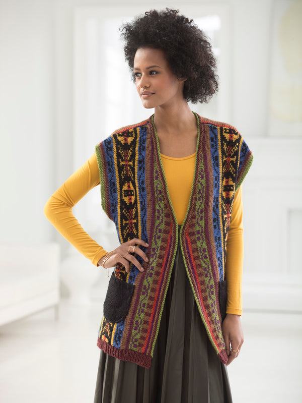 Fair Isle Pocketed Vest (Knit)