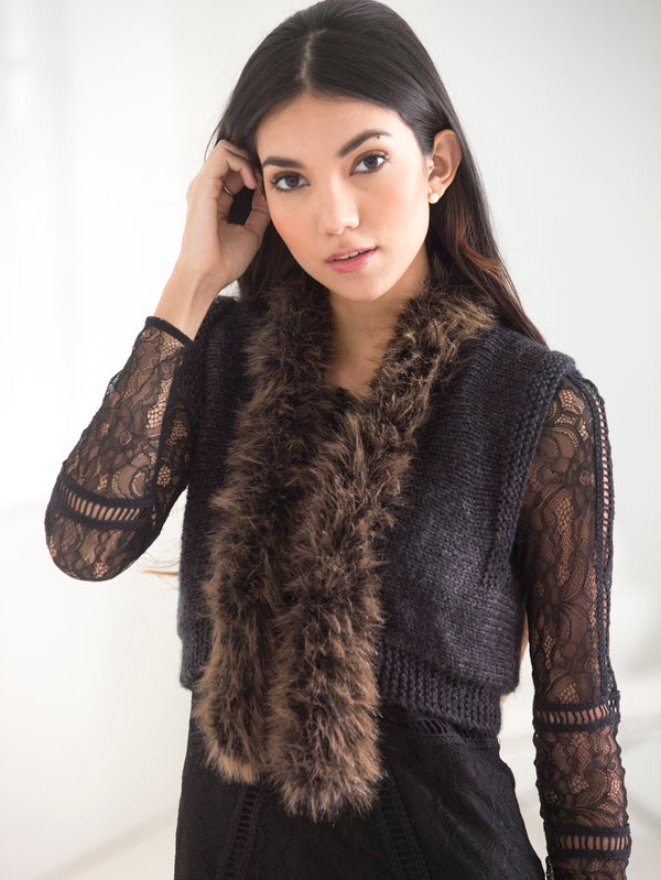 Luxe Cropped Vest (Knit)