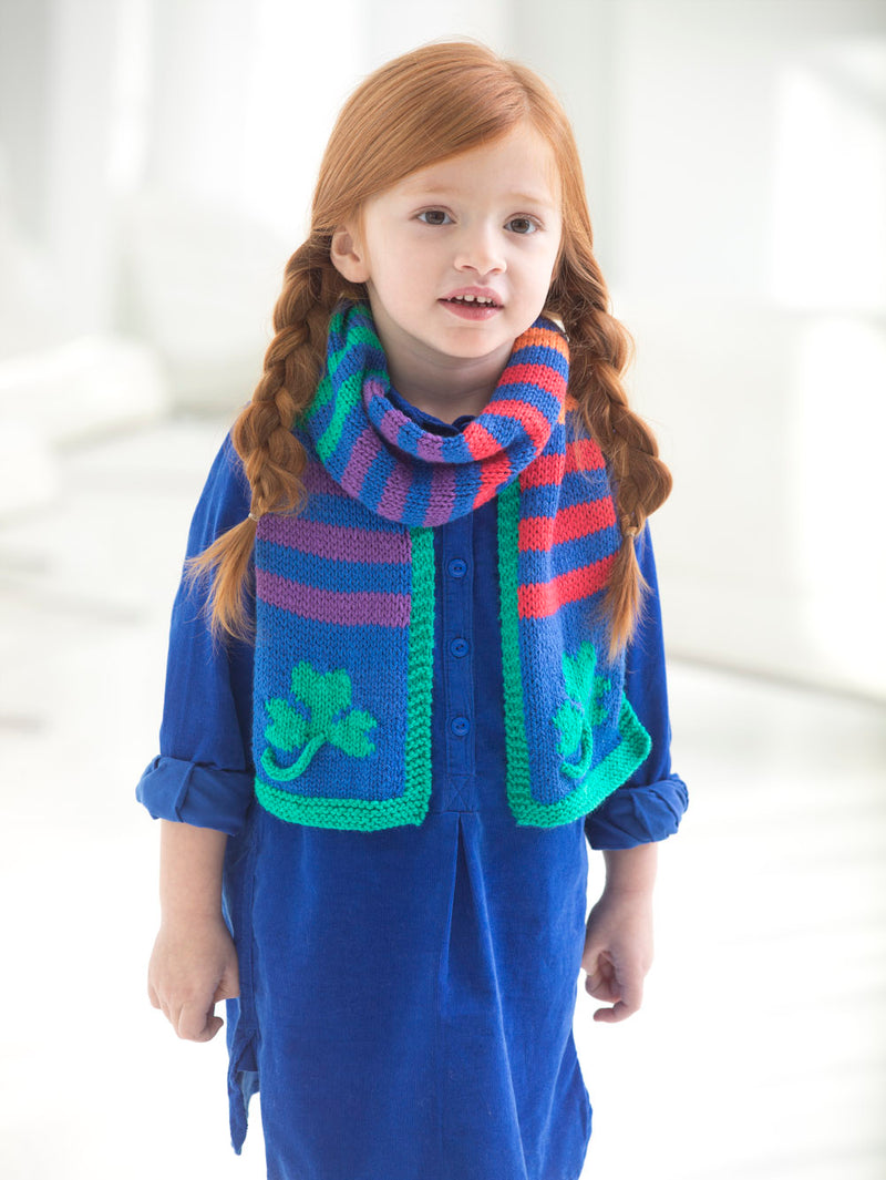 Shamrock Rainbow Scarf (Knit)