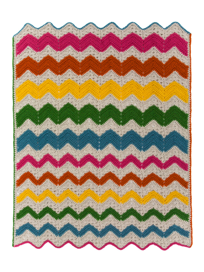 Ripple Rainbow Afghan (Crochet)