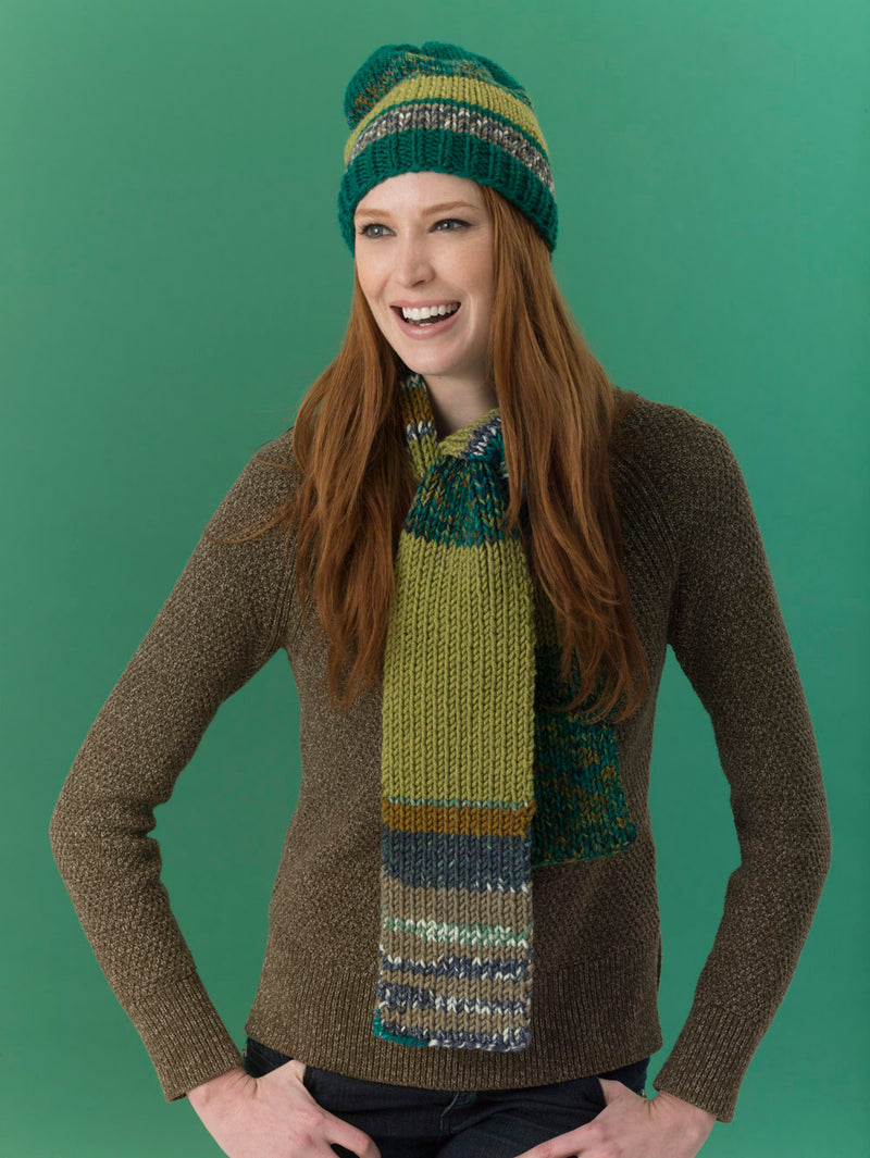 Level 2 - Easy Knit Scarf & Hat