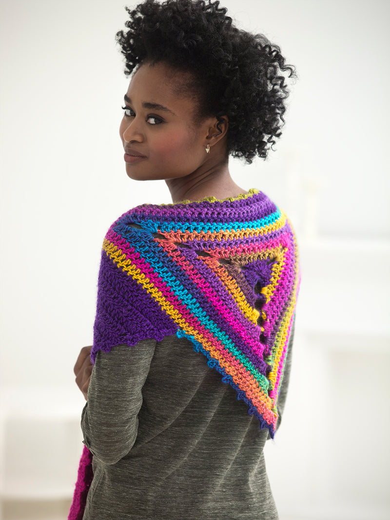 Rainbow Shawl (Crochet)