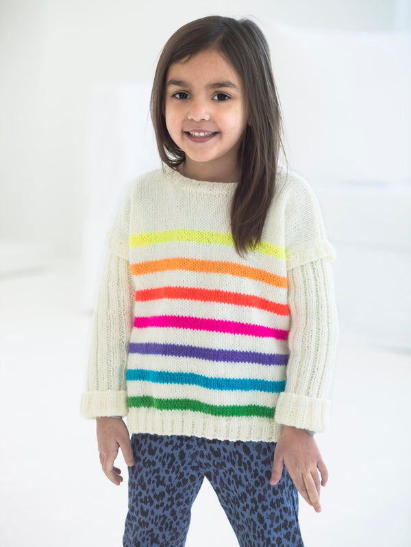 Bright Stripes Pullover (Knit)
