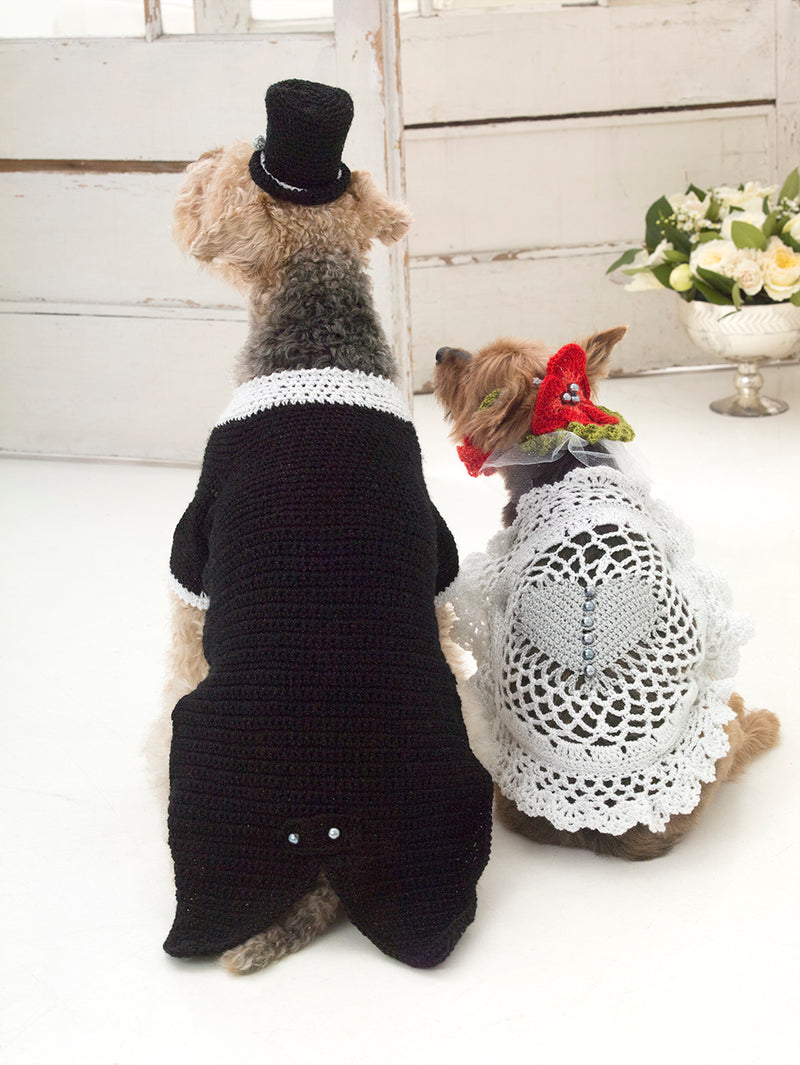 The Barking Groom Tuxedo And Top Hat (Crochet)