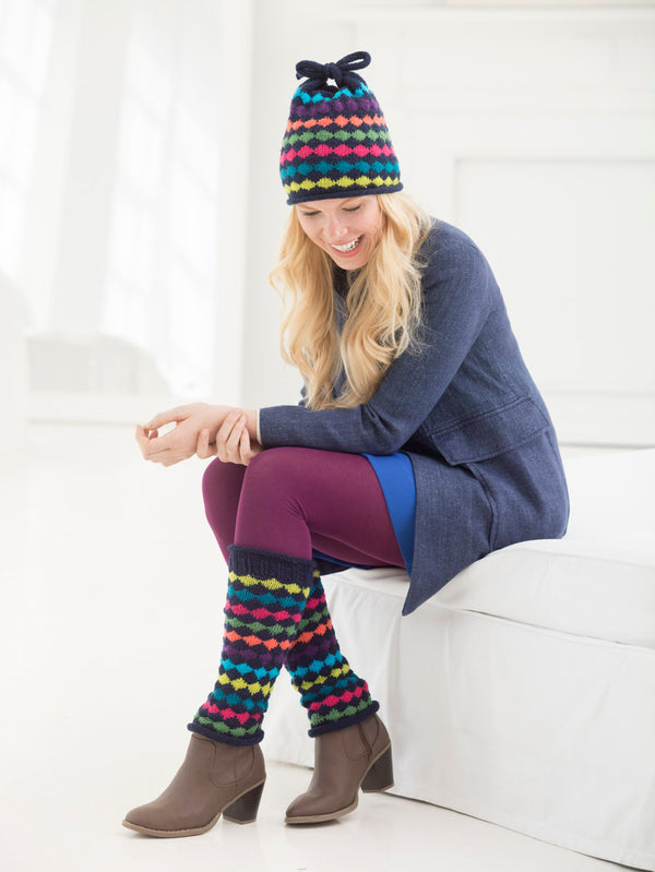 Colorwork Leg Warmers And Hat (Knit)