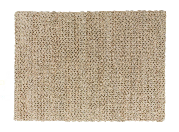 5 & 1/2 Hour Neutral Tones Afghan (Crochet)