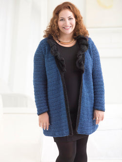 Curvy Girl Ruffled Collar Cardigan (Crochet)
