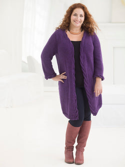 Curvy Girl Cabled Cardigan (Knit)