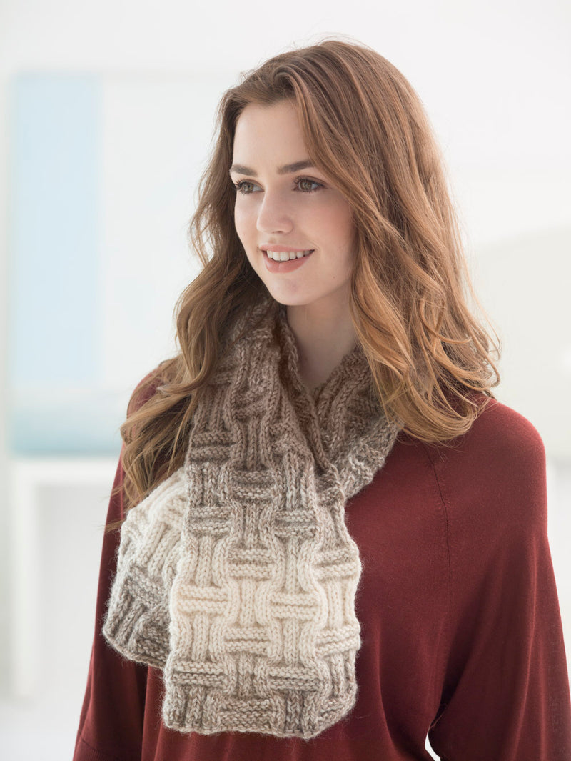 Checkerboard Rib Scarf (Knit)