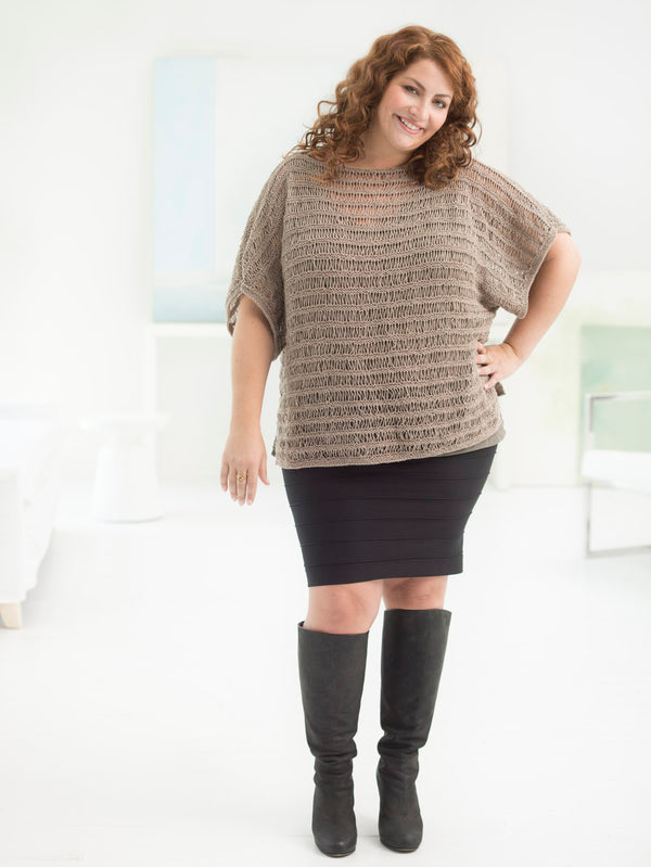 Curvy Girl Drop Stitch Pullover (Knit)