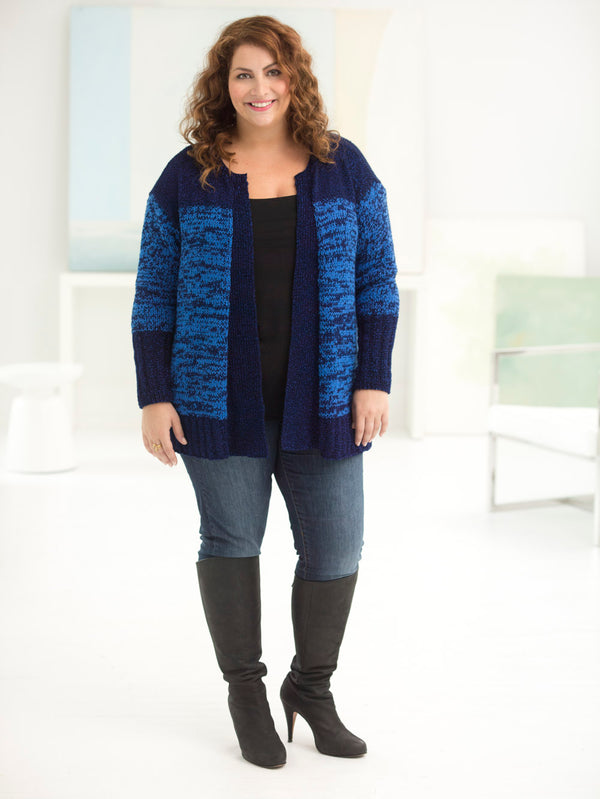 Curvy Girl Subtle Texture Cardigan (Knit)