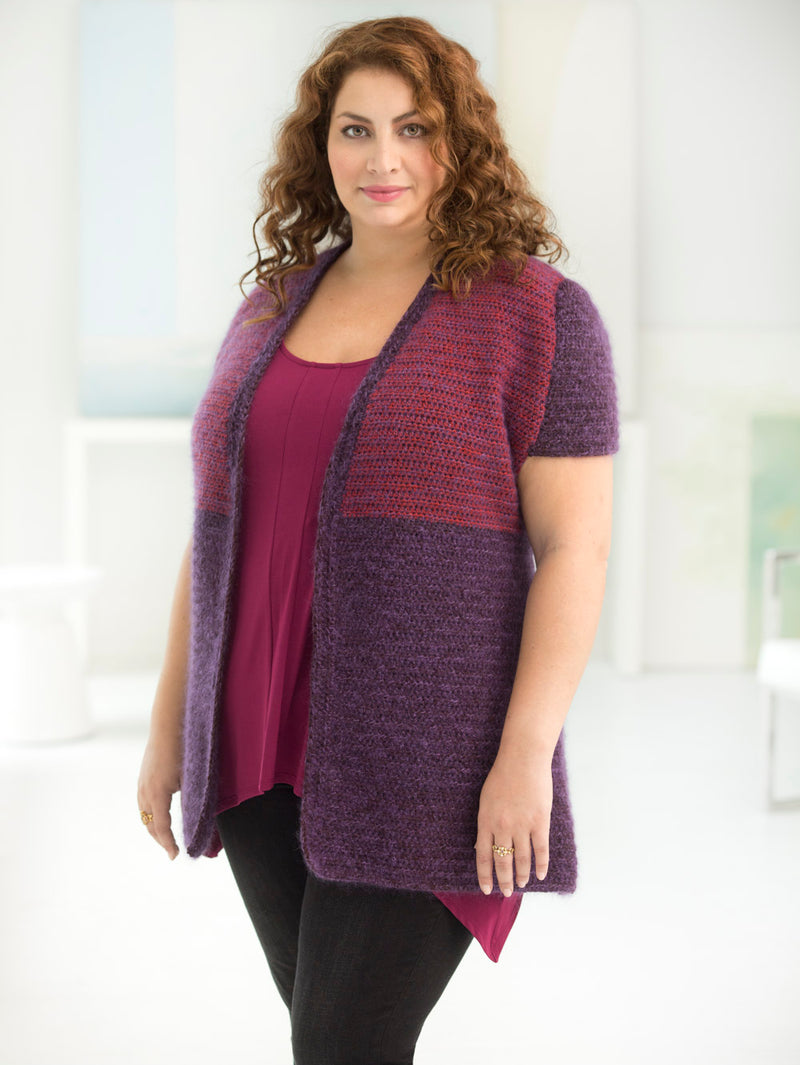 Curvy Girl Two-Tone Vest (Crochet)