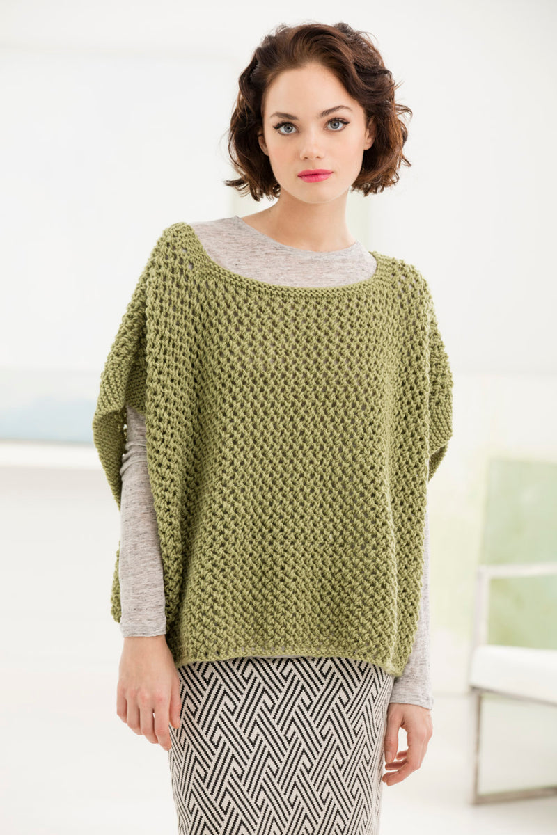 Open Work Poncho (Knit)