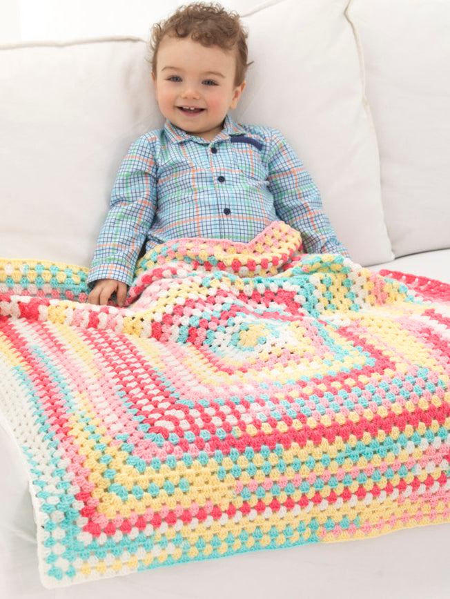 Happy Colors Baby Afghan (Crochet)