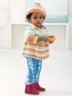 Girl's Cardi And Tam (Knit)