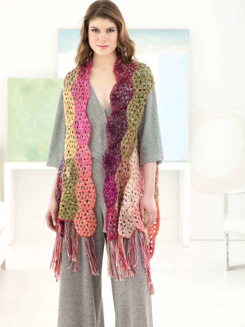 Hexagons Shawl/Vest (Crochet)