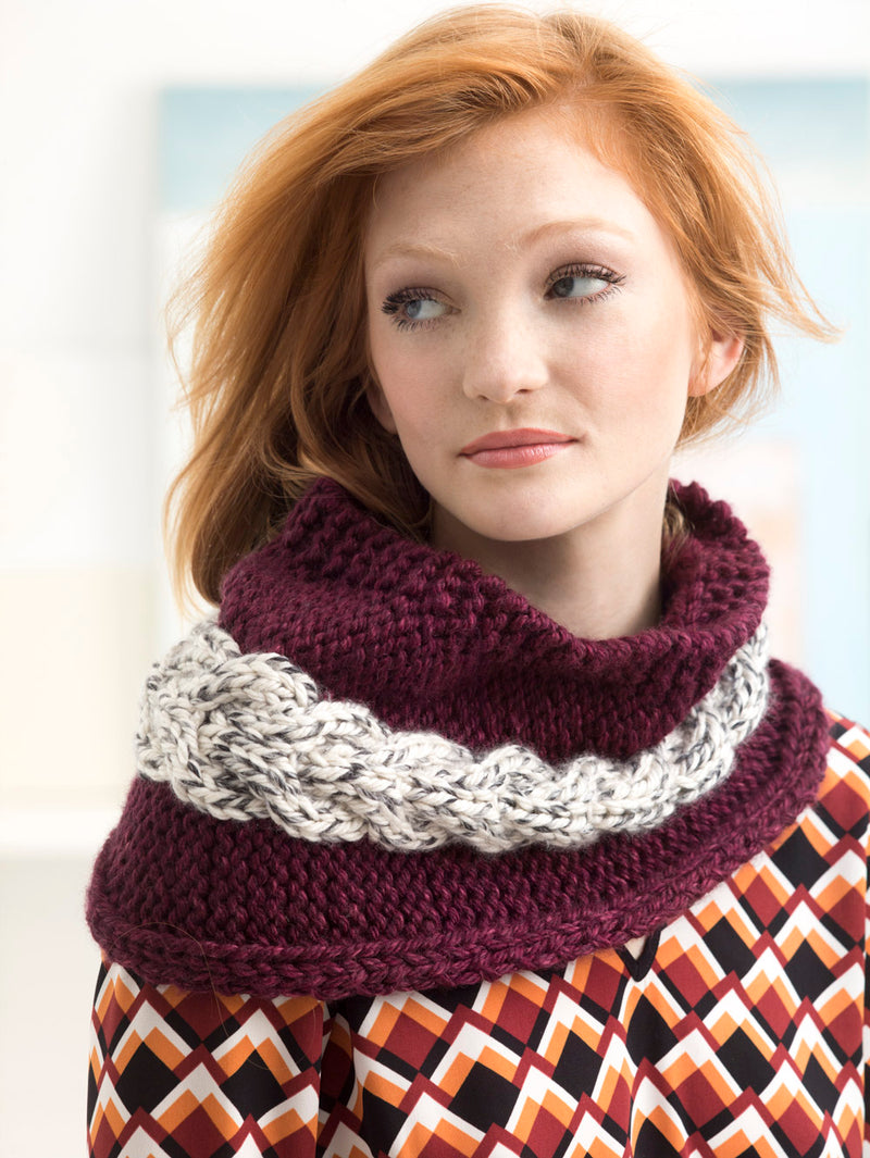 Elmont Cabled Cowl (Knit)