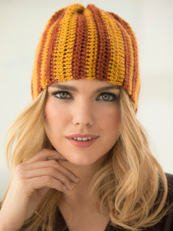 Crochet Level 2 Striped Hat