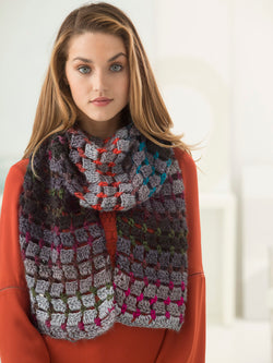 Blocks And Dots Scarf (Crochet)