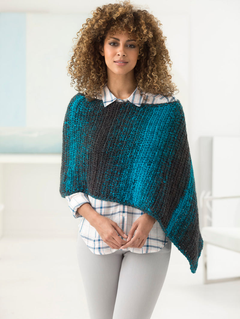 2 Ball Poncho (Crochet)