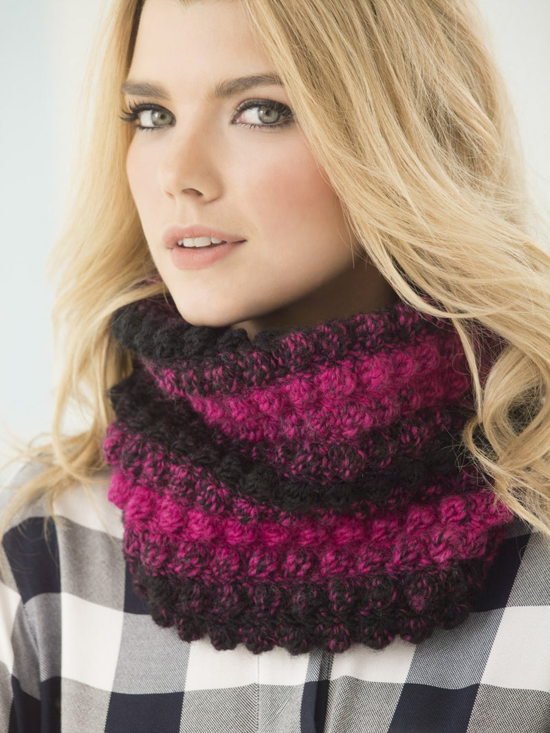 1 Ball Bobble Cowl (Crochet)