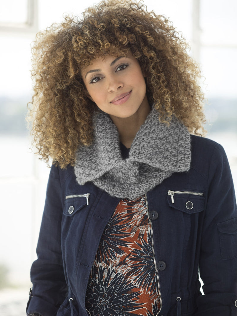 One & Done Kits - Textured Message Knit Cowl