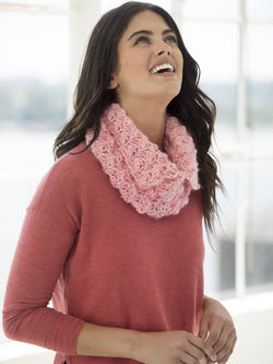 One & Done Kits - Pink Lady Crochet Cowl