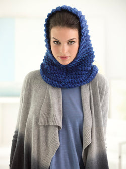 Blues In The Night Cowl Hood (Crochet)