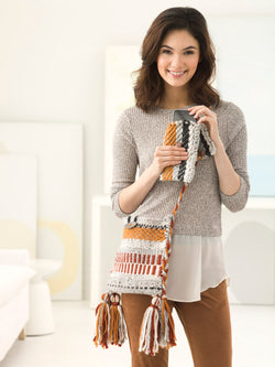 Woven Boho Bag and Device Case (Loom/Weave)