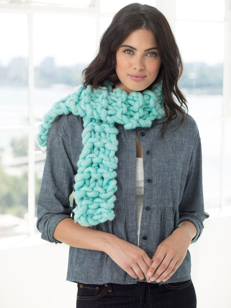 Neck's Best Thing Knit Scarf - Blue