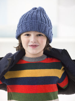 Boy Ribbed Hat (Knit)