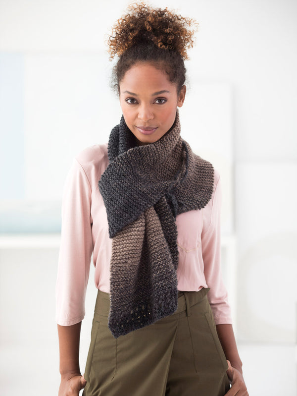 Laced Together Scarf (Knit-Crochet)