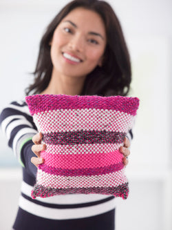 Striped Woven Pillow (Crafts)