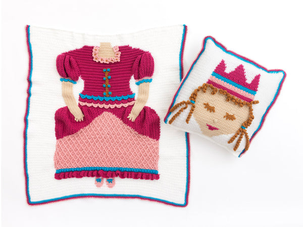 Nite Princess Afghan And Pillow (Crochet)