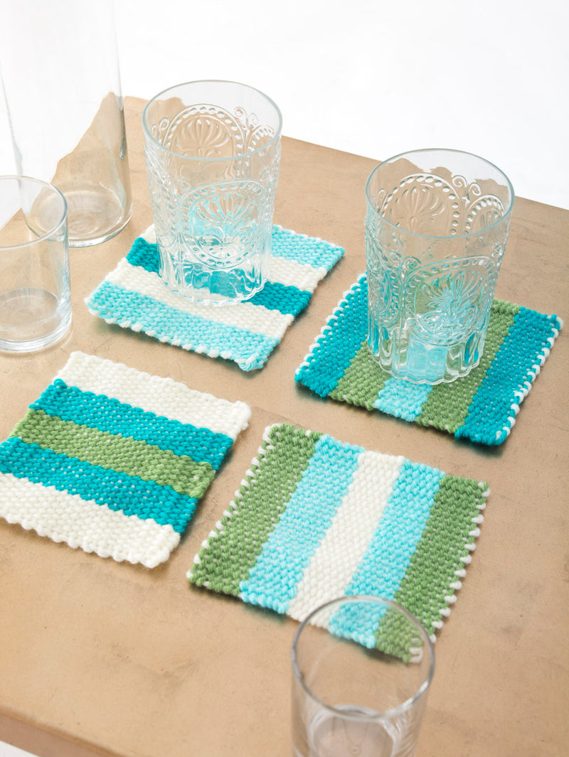 Woven Striped Coasters (Loom/Weave)