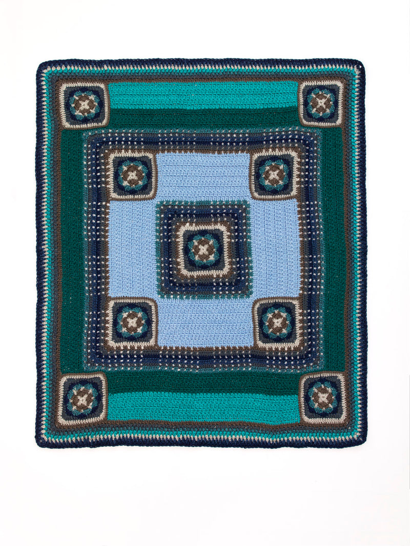 Panels And Squares Afghan (Crochet)