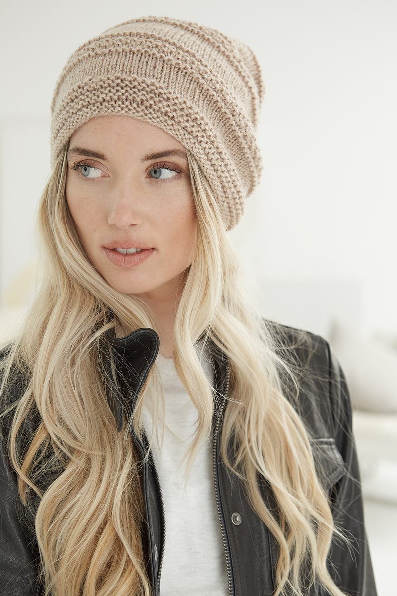 Simple Texture Slouch Hat (Knit)