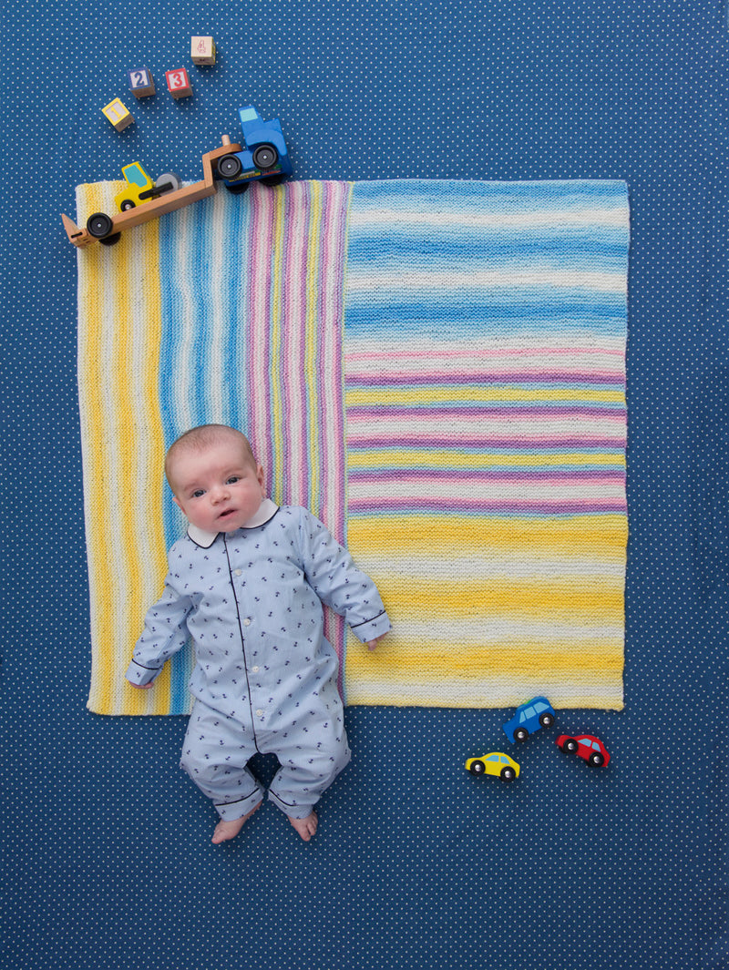 Right Angles Baby Afghan (Knit)