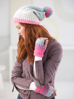 Hat And Mitts (Crochet)