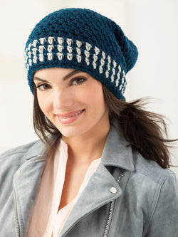 Two Color Slouch Hat (Crochet)