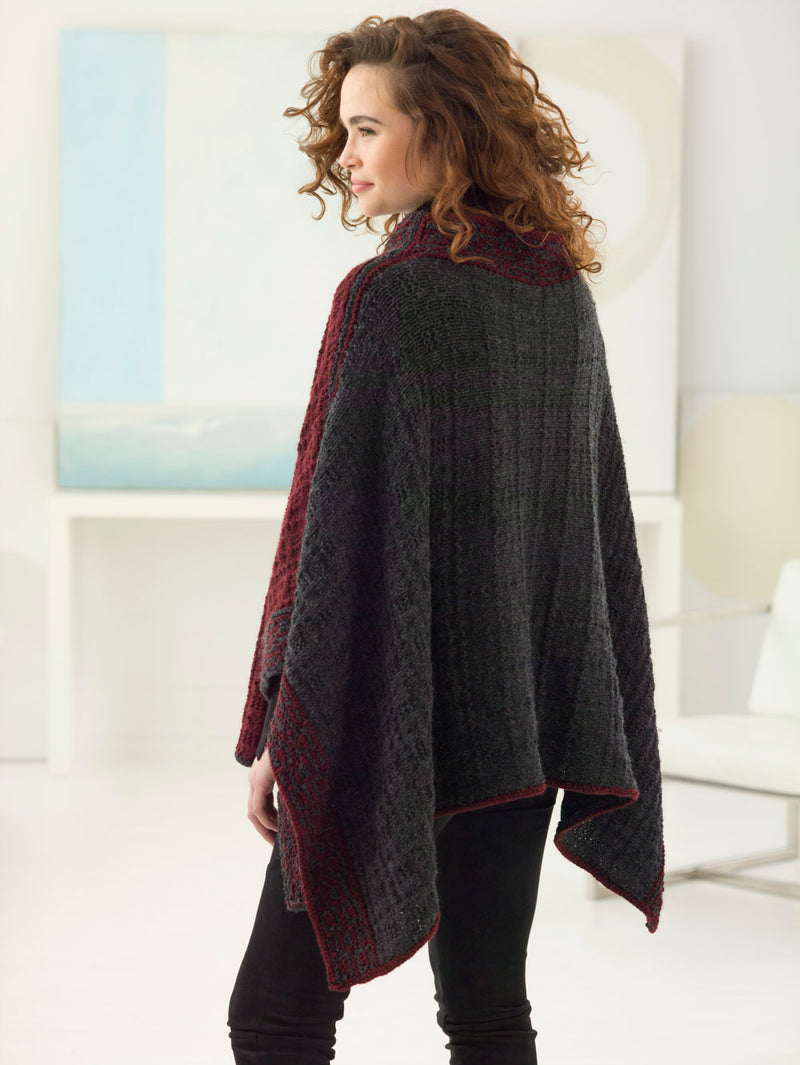 Textured Stitch Poncho (Knit)