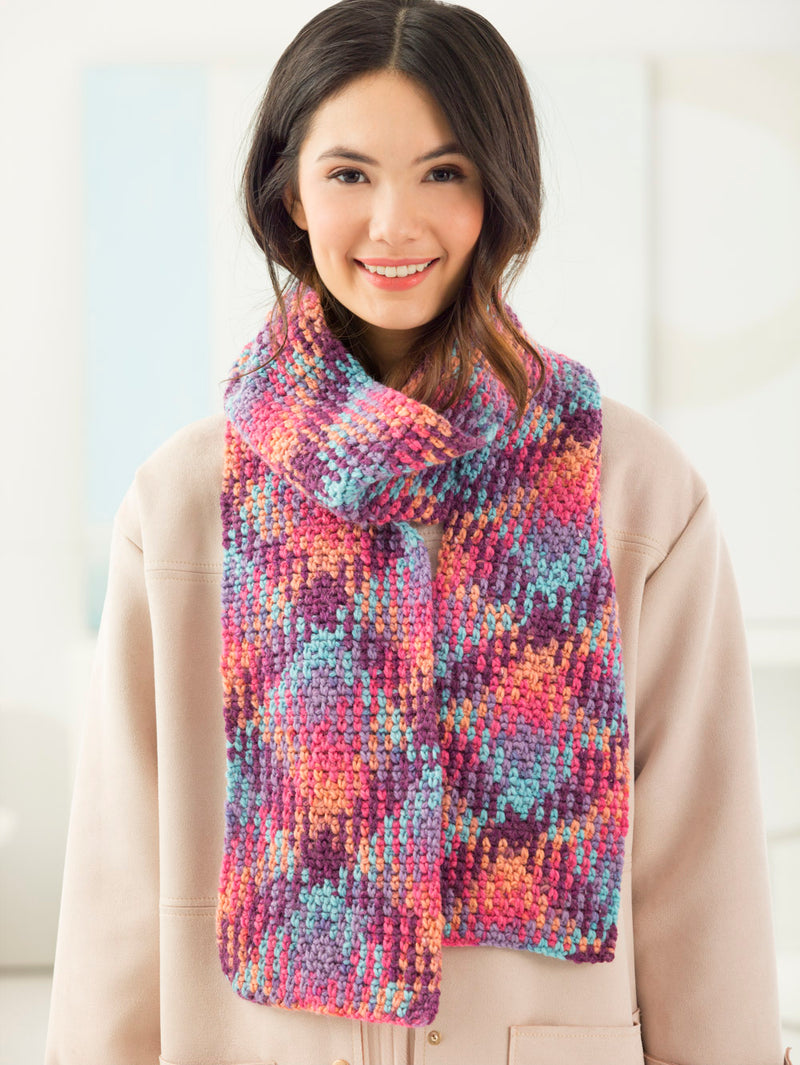 Color Pooling Scarf (Crochet)