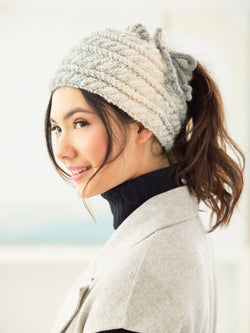Cabled Bun Hat (Knit)