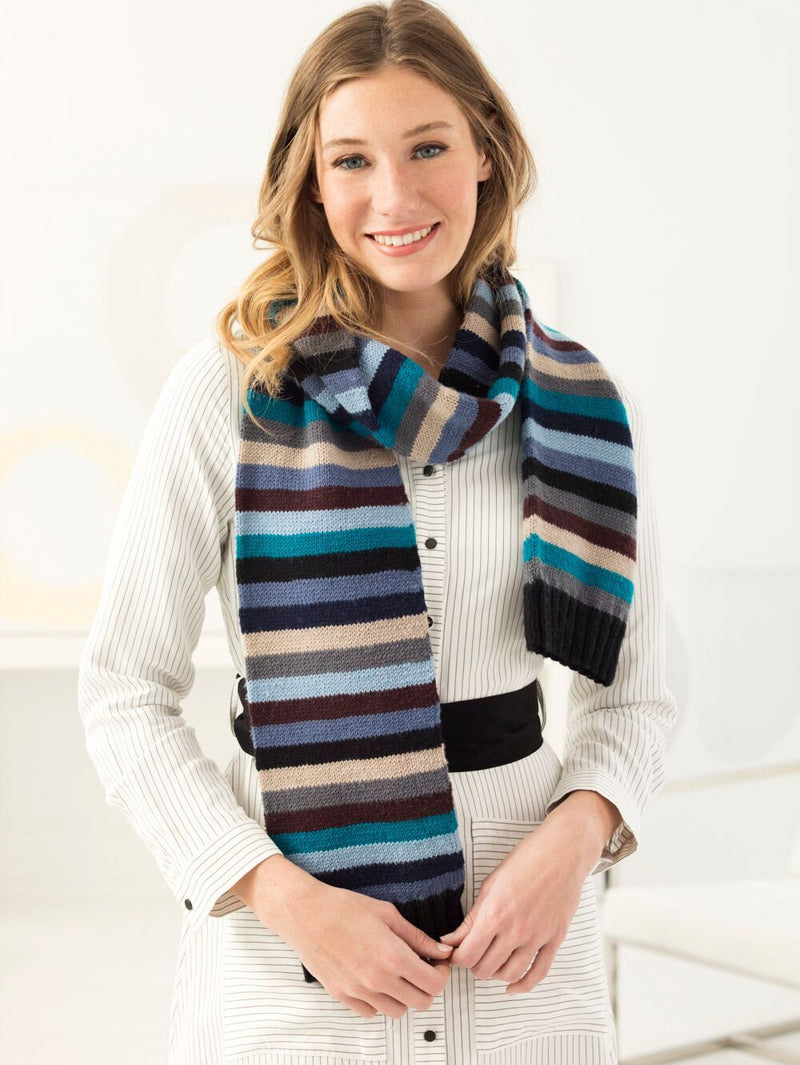 Stripey Scarf (Knit)